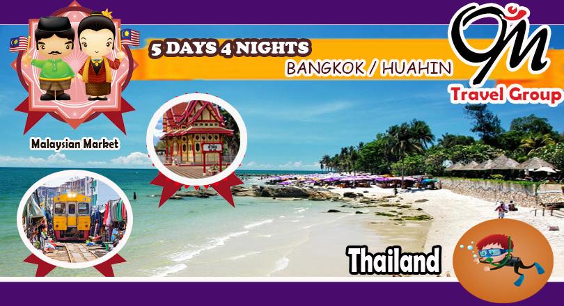 5D4N Bangkok - Hua Hin