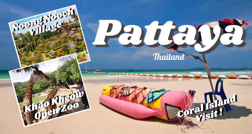 Pattaya - Nong Nooch - Coral Island - Khao Kheow Zoo - Floating Market (Exclude Hotel)