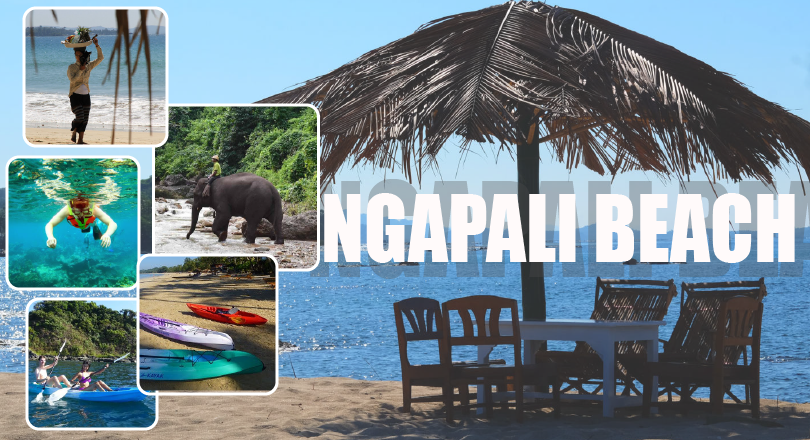 2 Days Ngapali snorkeling  Indian Ocean and Elephant Jungle (Excluded Hotel)
