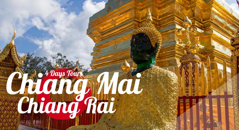 4 Days 3 Nights  Chiang Mai - Chiang Rai ( Non-Shopping Tour, Included Hotel)